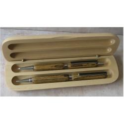 Coffret stylo et porte-mine standard bois de Bocote