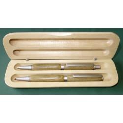 Coffret stylo et porte-mine standard bois de Palo Santos